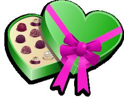 boite de chocolat en forme de coeur